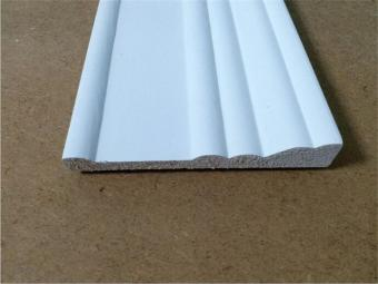 Primed FJ Pine Wood White Baseboard